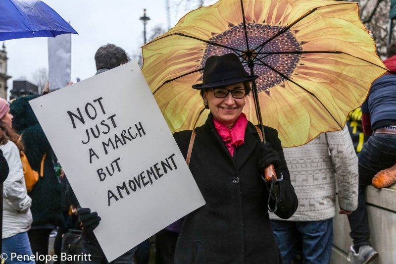 The Fourth Wave Feminism: Women's March London, January 2018, by Penelope Barritt