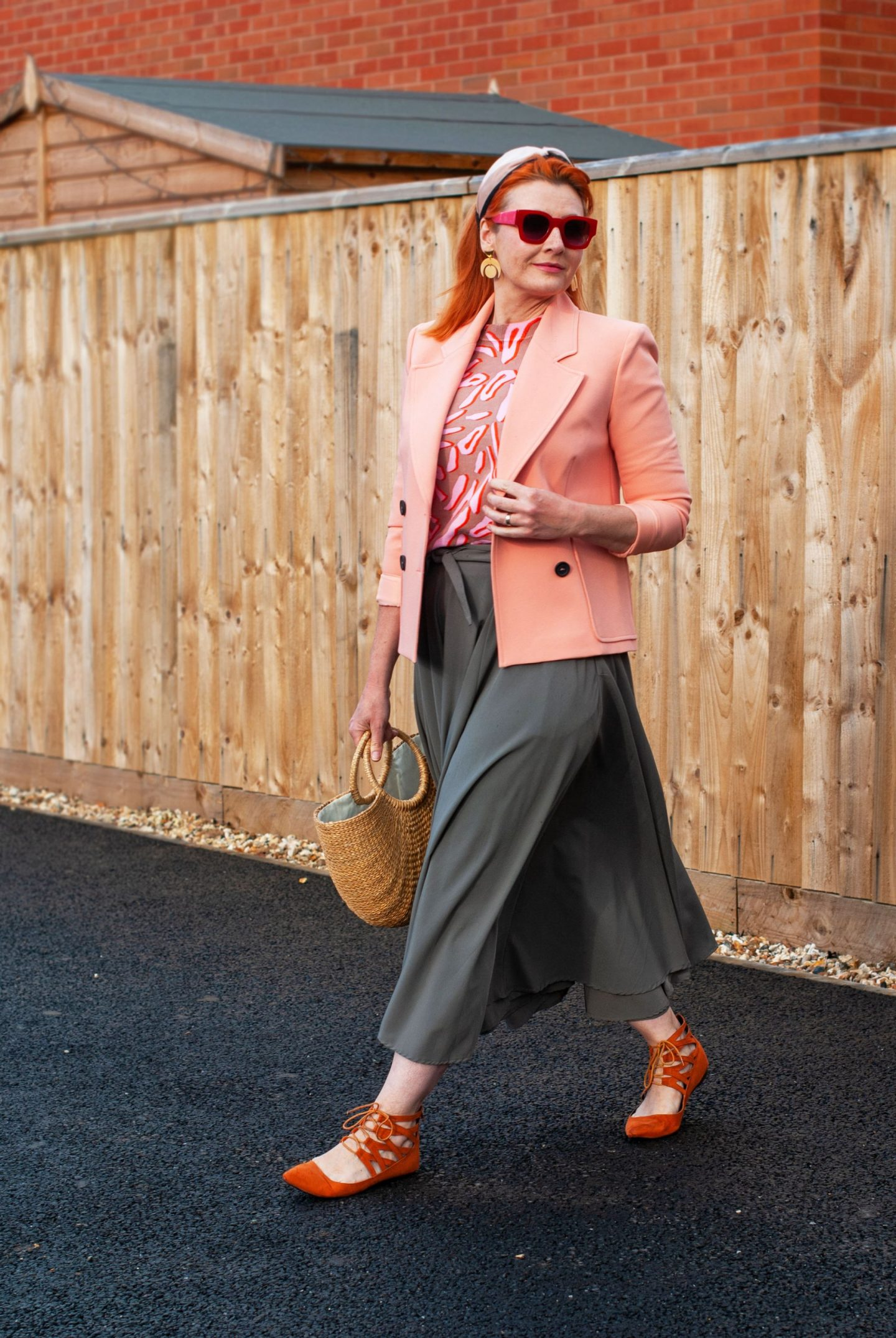 Pink Animal Print With Peach and a Circle Maxi Skirt | Not Dressed As Lamb