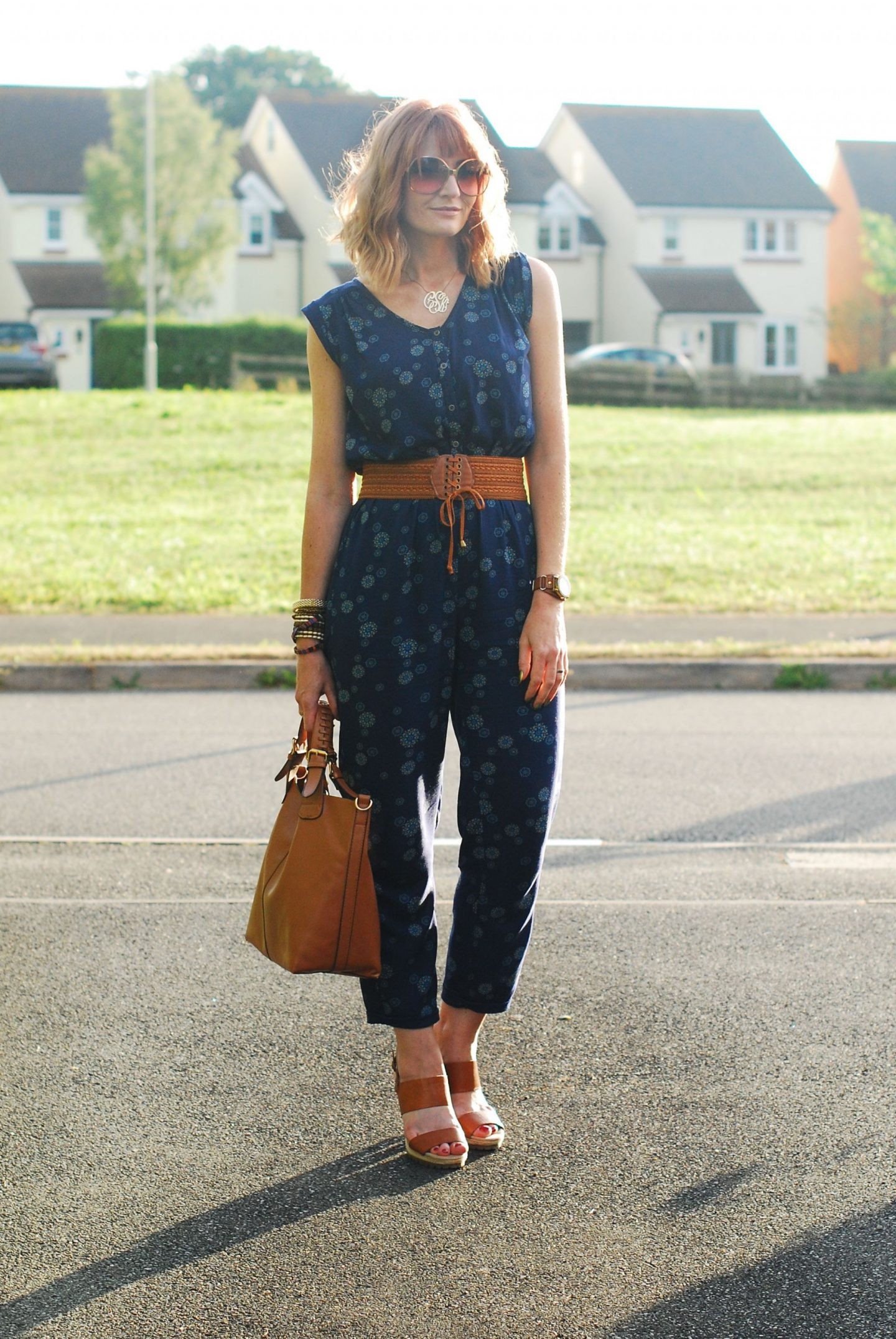 My All Time Favourite Summer Outfits: Navy sleeveless jumpsuit | Not Dressed As Lamb