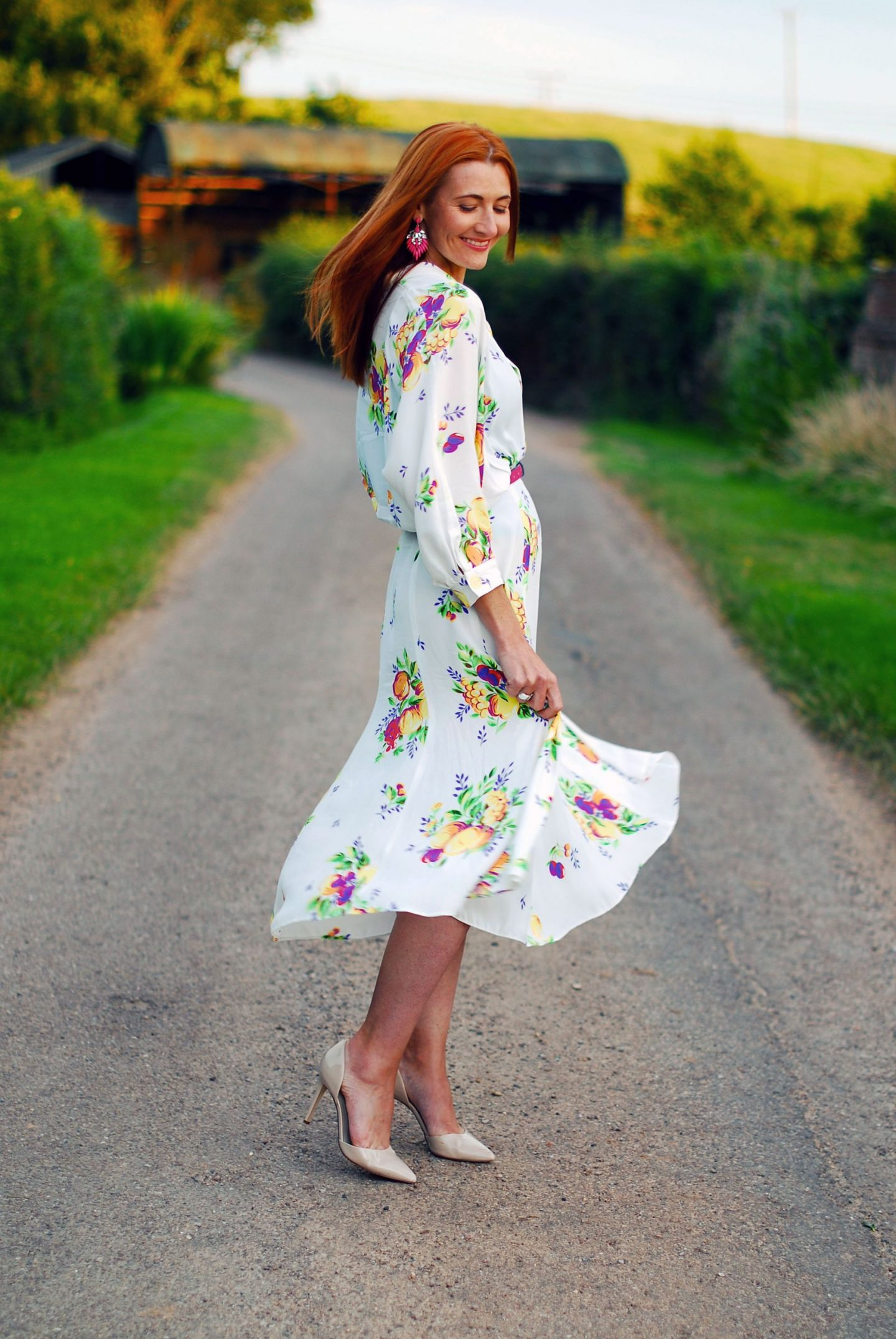 My All Time Favourite Summer Outfits: Vintage white floral dress | Not Dressed As Lamb