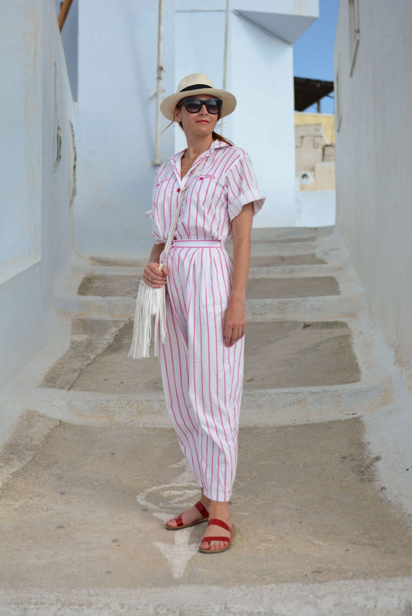 My All Time Favourite Summer Outfits: Vintage DVF striped jumpsuit | Not Dressed As Lamb