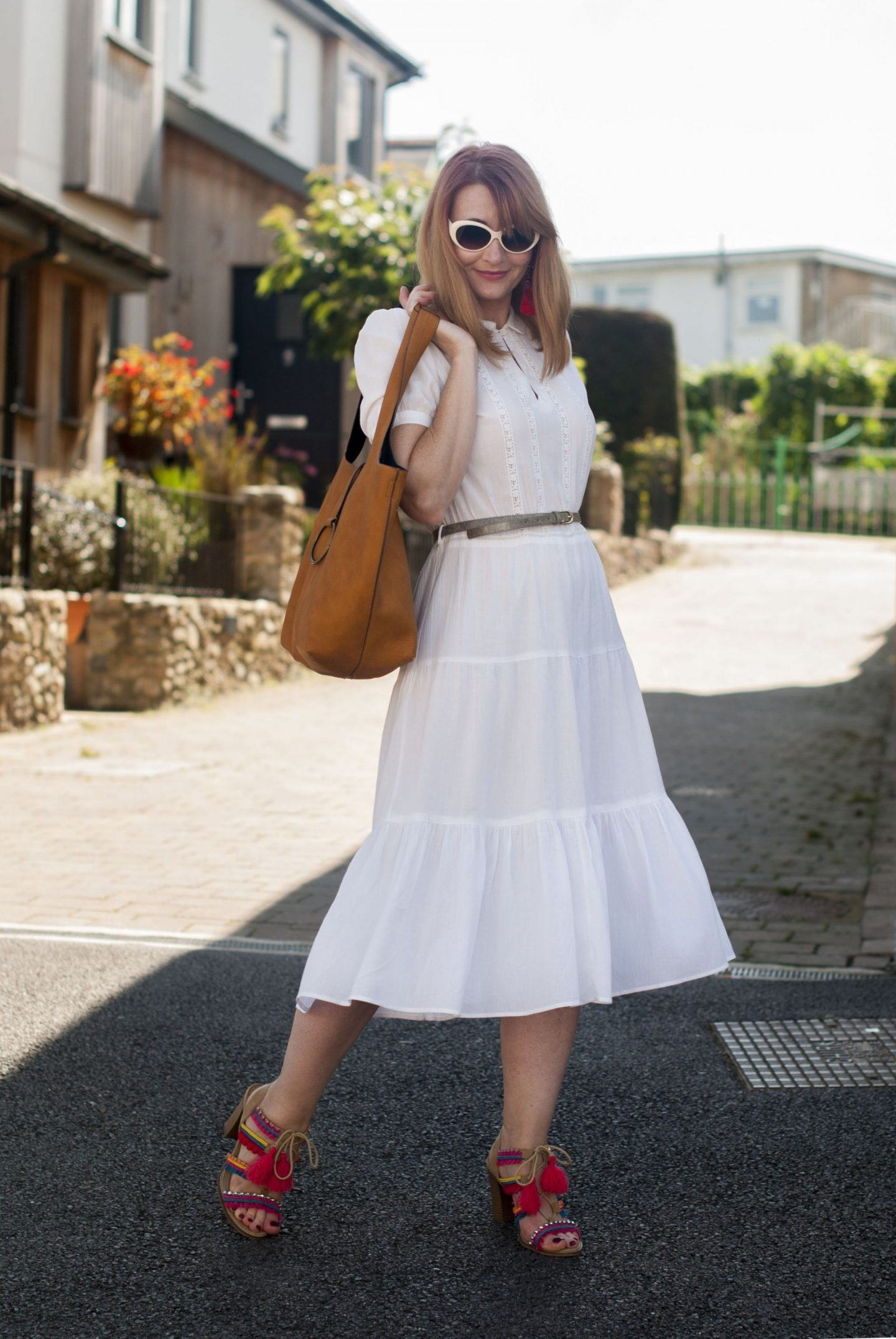 My All Time Favourite Summer Outfits: White vintage summer dress | Not Dressed As Lamb