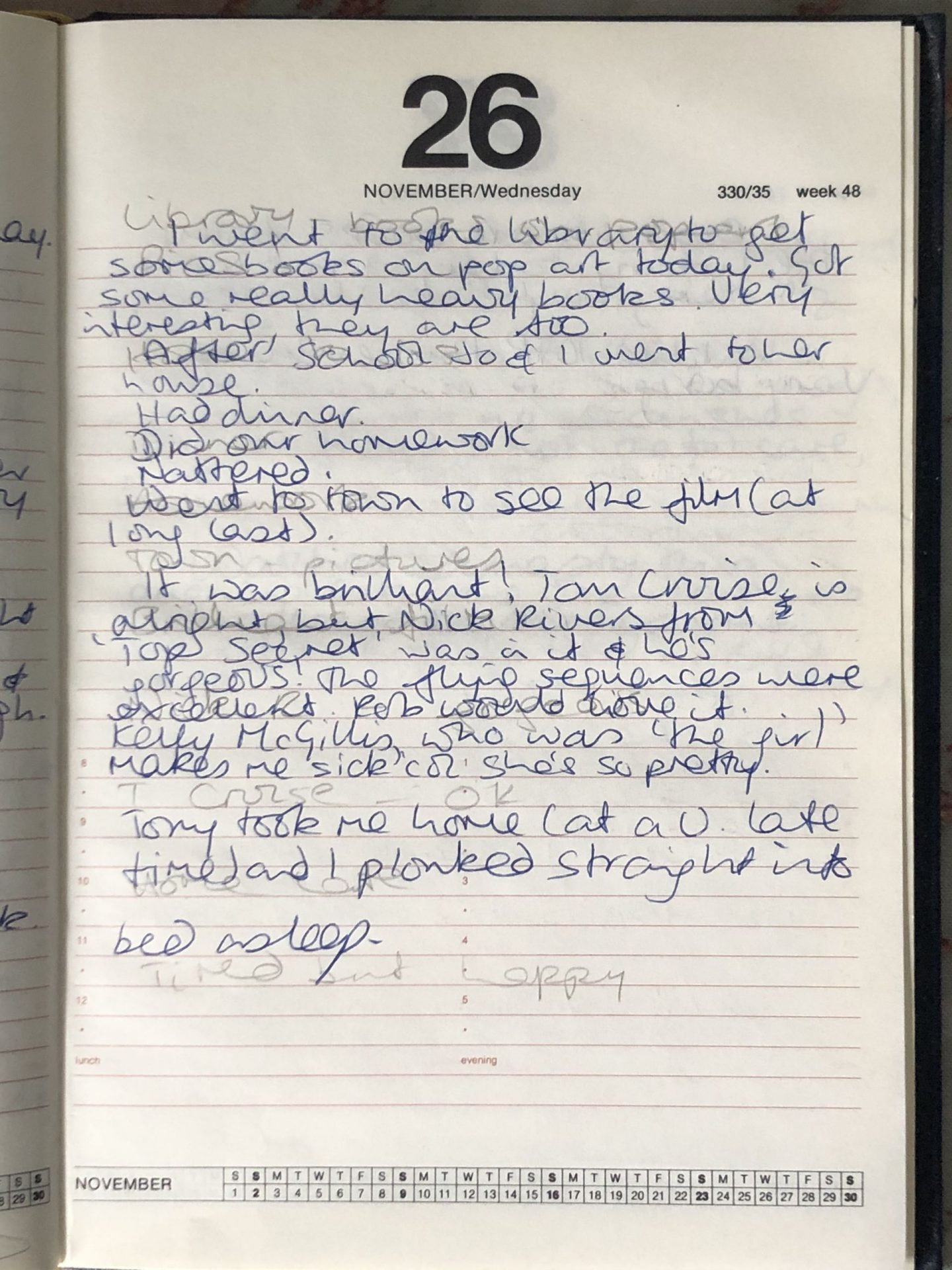 Not Dressed As Lamb's Teenage diaries 1986