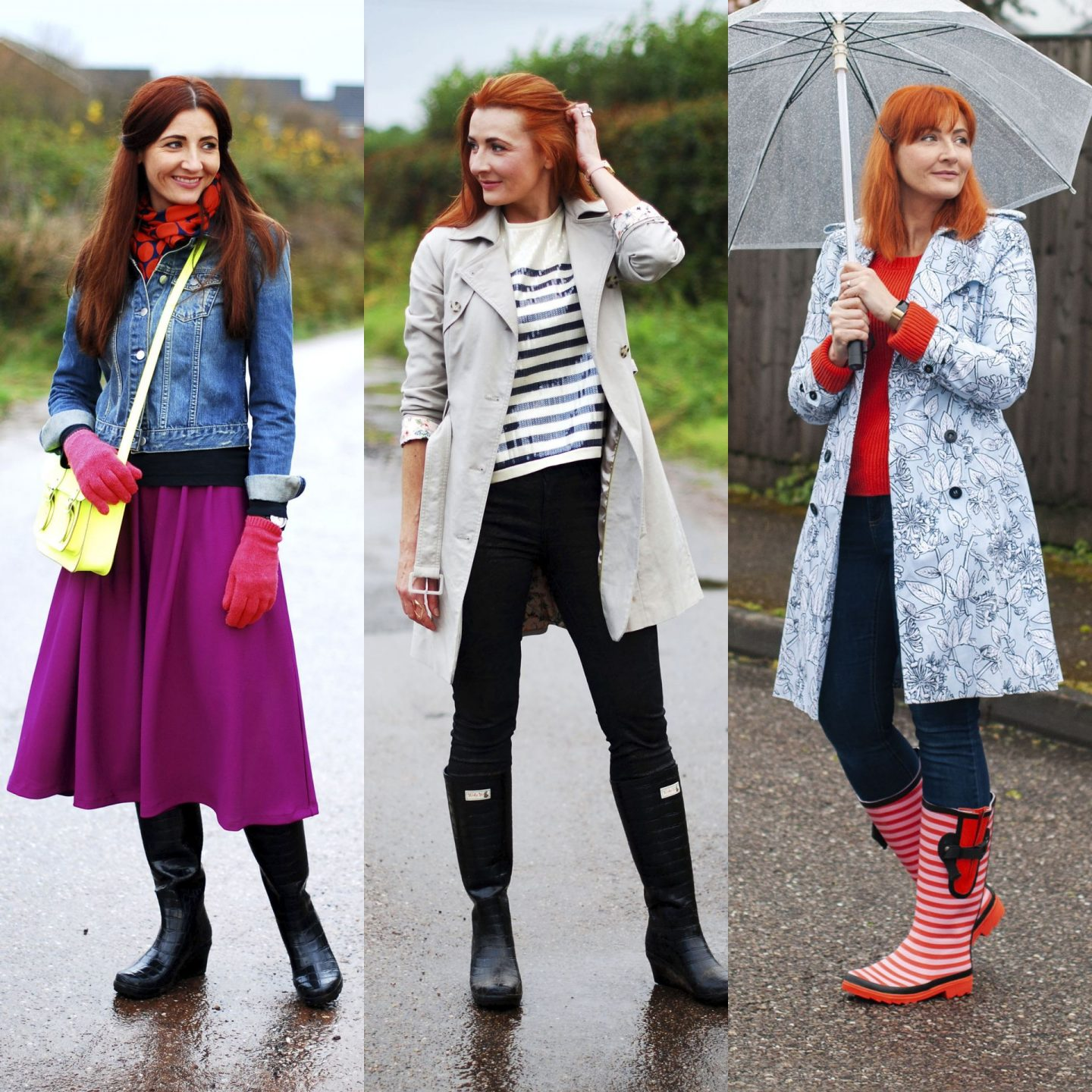 7 Colourful and Classic Rainy Day Outfits From the Archives | Not Dressed As Lamb
