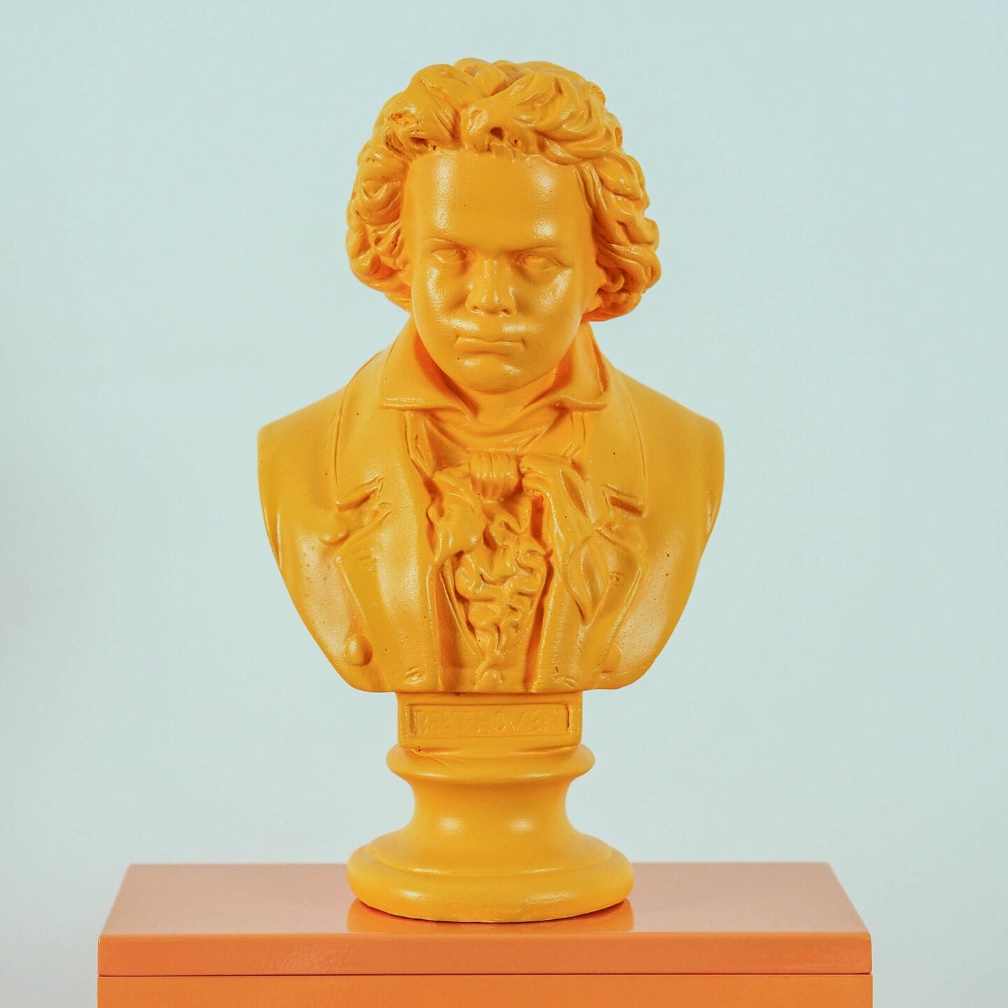 Not Lamb Home: Bold, kitsch upcycled homewares, vintage and decor | Yellow Ludwig Von Beethoven Bust